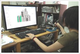 3Dモデリングの様子