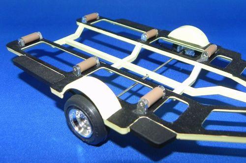 プラモデル組立品ボートトレーラー